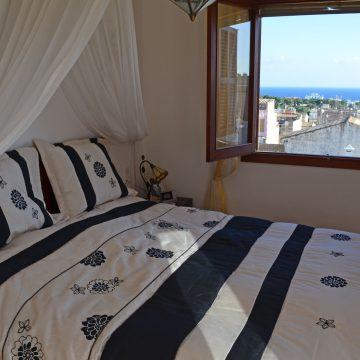 Apartment Schlafzimmer Meerblick Fischerort Porto Cristo Mallorca 2