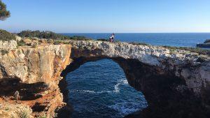 Strand Steinbruecke Meer Fischerort Porto Cristo Mallorca 2
